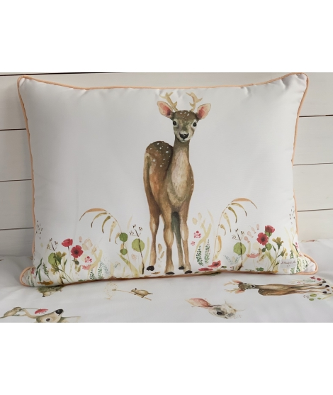 DEER FLOWERS Personalized Pillow