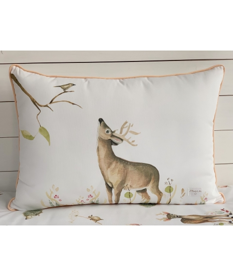 DEER AND BIRD Personalized Pillow