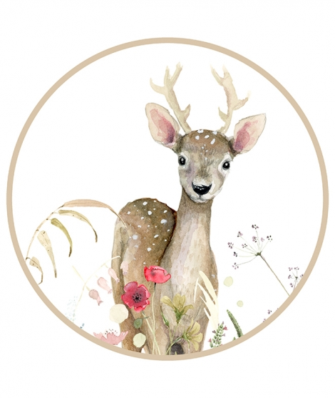 A CLEAR IN THE FOREST - DEER