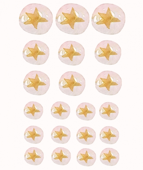 BUBBLES STARS - Packs Of Vinyl Stickers