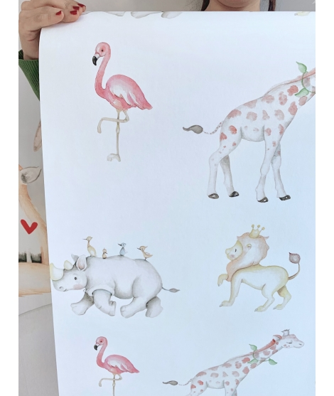 ANIMALS Papel pintado infantil