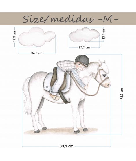 "Personalised Wall Sticker ""Horse rider"""