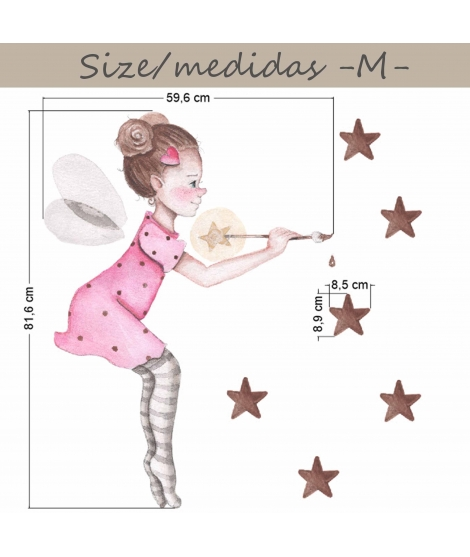 "Personalised Wall Sticker ""Fairy artist"""