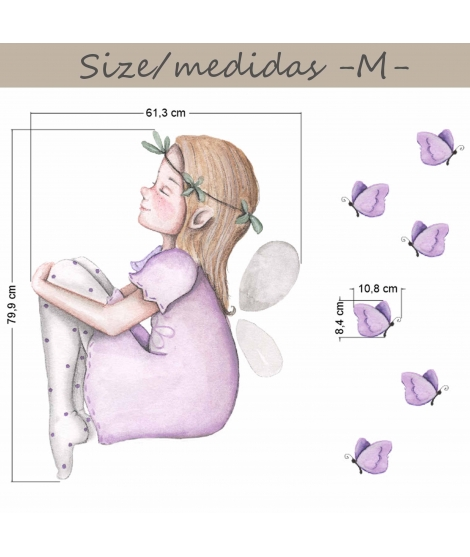 "Personalised Wall Sticker ""Fairy dreamer"""