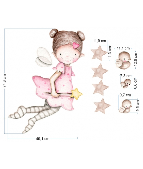 "OUTLET -  Wall Sticker "" Fairy flying"""