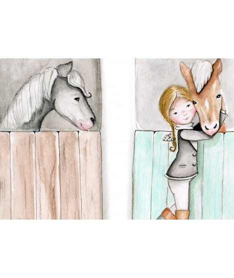 "copy of Personalised Wall Painting ""Horses"""