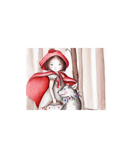 "OUTLET - Wall Painting ""Little Red Riding Hood"""