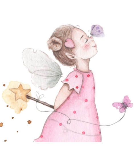 Personalised Wall Painting Fairy With Butterflies