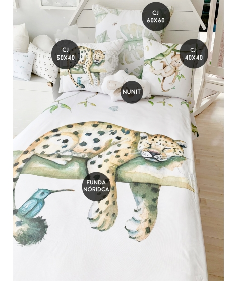 "copy of Cot/bed set ""World map gray"""