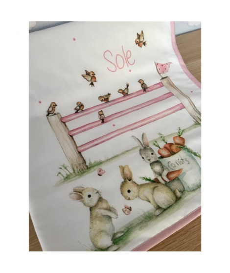 "Baby Blanket personalized ""Little Bunny"""