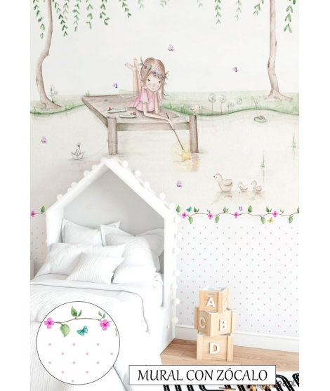 "Personalised Wall Painting ""Fairy Lake"""