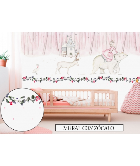 "Personalised Wall Painting ""Princess Nordic"""