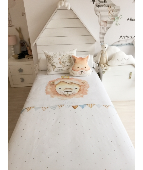 "OUTLET-  Cot/Bed Set ""Pirates on moon"""