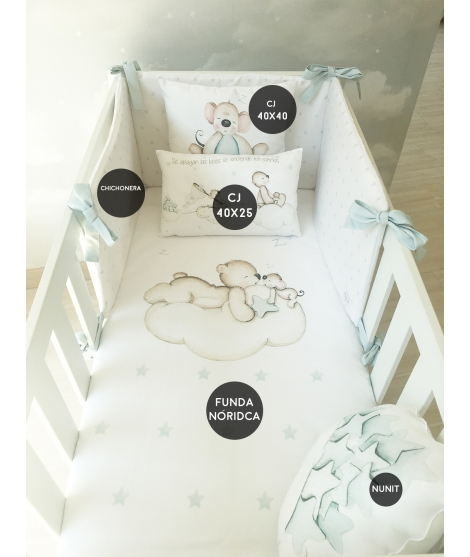 LOOKING FOR STARS BLUE Set For Crib