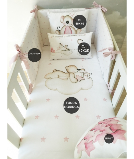 LOOKING FOR STARS PINK Set For Crib