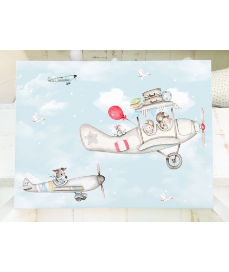 "Personalised canvas ""Furrowing the sky"""
