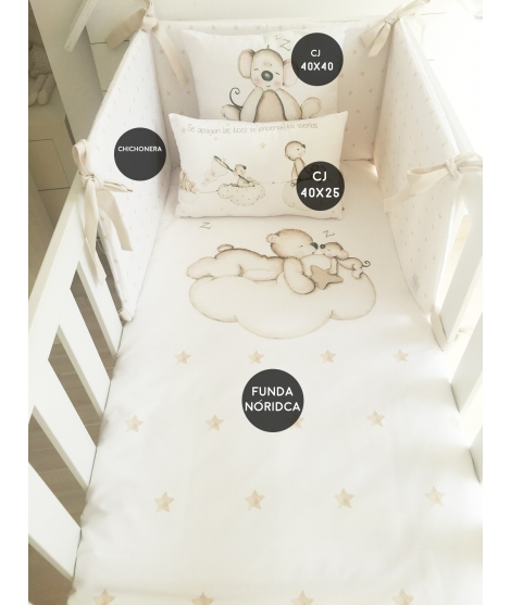 LOOKING FOR STARS BROWN Set For Crib