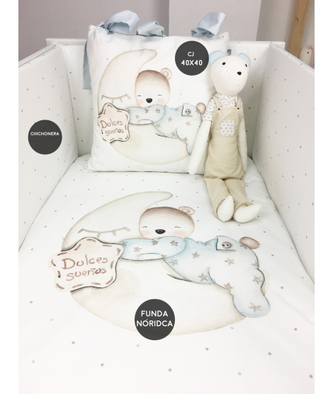 SWEET DREAMS BABY BEAR BLUE Set For Crib