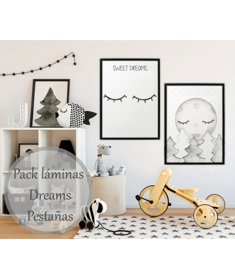 DREAMS EYELASH Personalized Pack of Prints