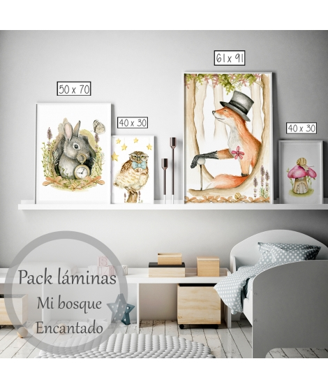 "copy of Pack of 4 print personalised print ""Safari"""