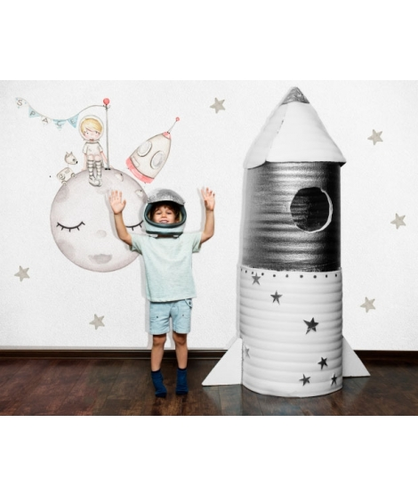 ASTRONAUT ON THE MOON Personalized Adhesive Vinyl