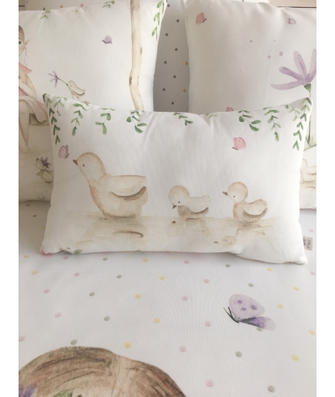 Reversible Duvet Cover BLUE BIRDS