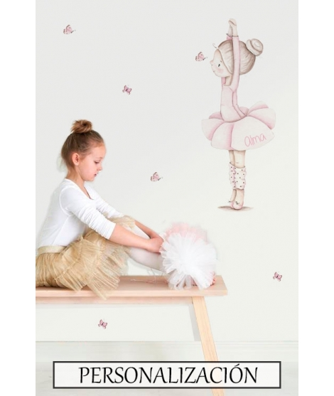 "Personalised Wall Sticker ""Dancer dance I"""
