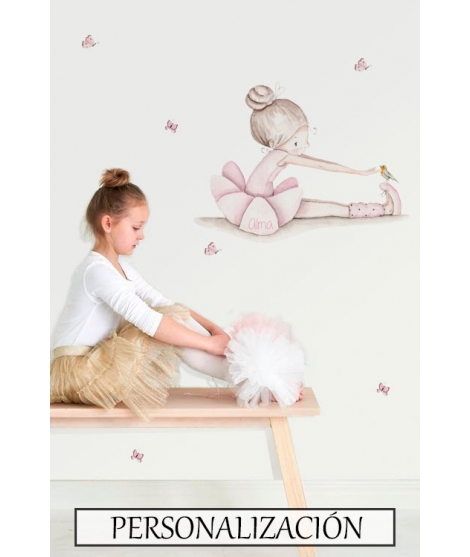 "Personalised Wall Sticker ""Dancer dance II"""