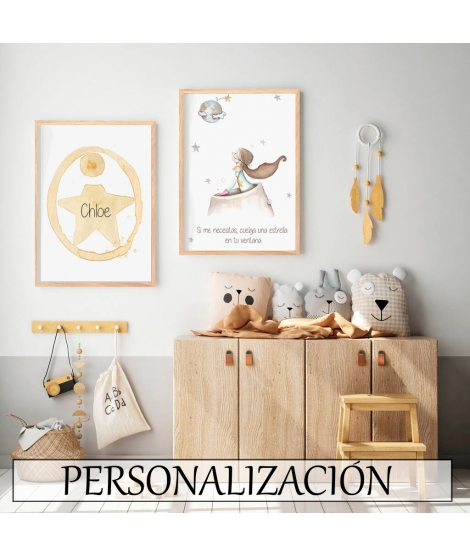 """Personalised Wall Painting """"The Little Prince"""" -"""