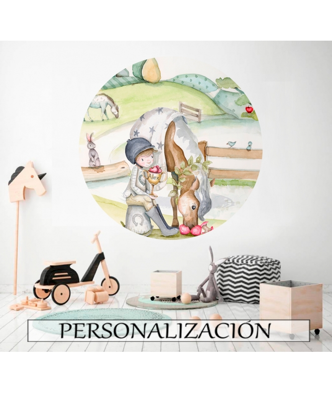 "Personalised Wall Mural ""BICYCLE GIRL"""