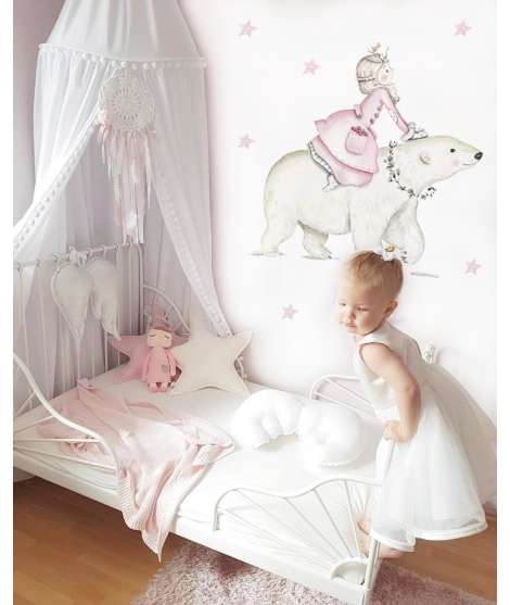 "Personalised Wall Sticker ""Princess Nordic"""