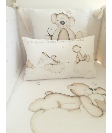 MICE ON THE BROWN STAR Personalized Pillow