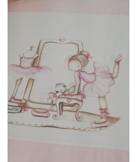 "Personalised Wall Sticker "" Looking for stars Pink"""
