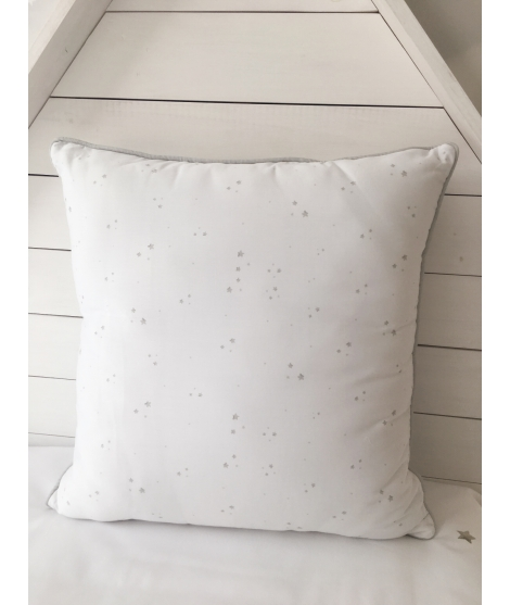 GREY STARS AND WAGONS Pillow