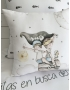 """PERSONALIZED COT / BED CLOTHING """"DREAMS MINT"""""""