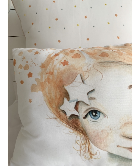 RAIN OF STARS GIRL Personalized Pillow