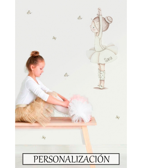 "copy of Personalised Wall Sticker ""Dancer dance I"""