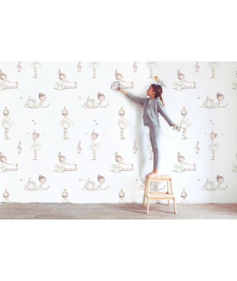 BALLERINAS BEIGE Wallpaper