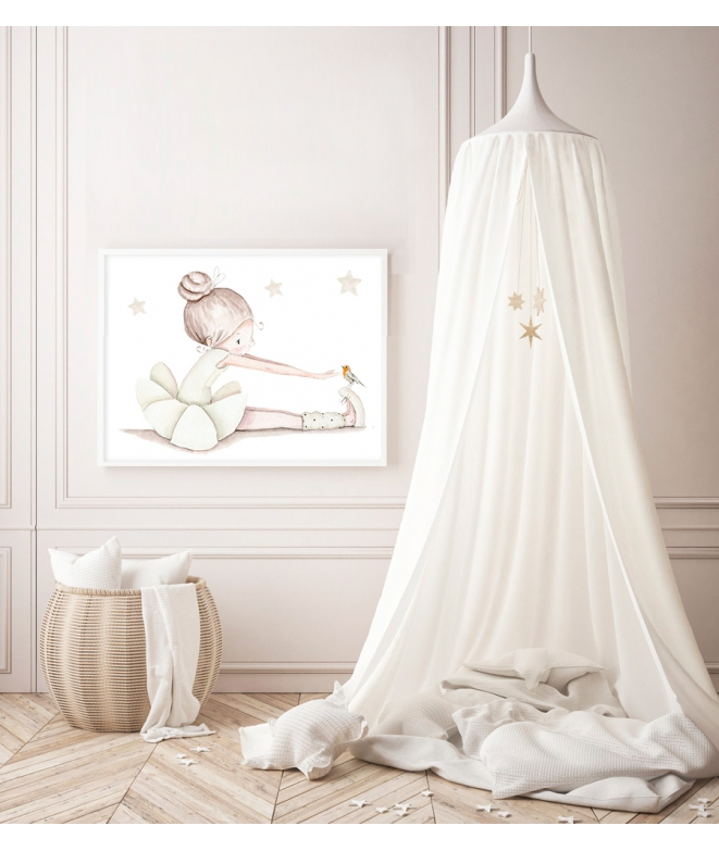 "WALL STICKER SET ""Stars dreams gray"""