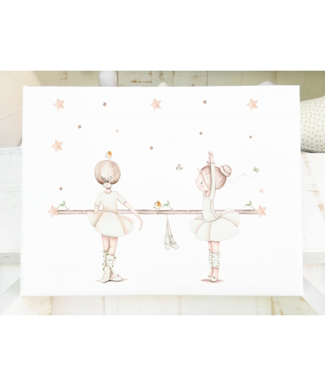 BALLERINAS BEIGE Personalized Baby Picture