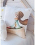 "Personalised Cushion ""Small Plane with fox"""