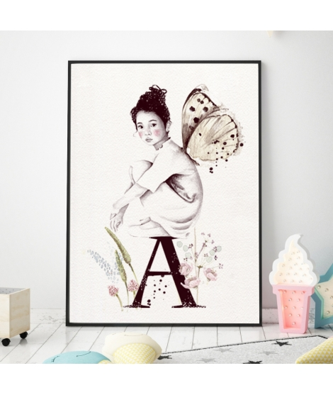 "Personalised Wall Sticker ""Girl explorer"" -"