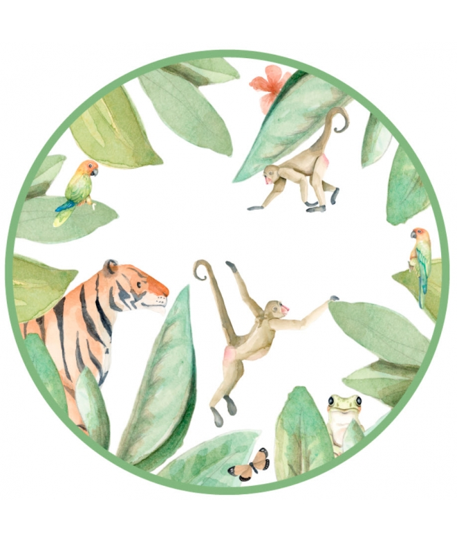 Jungle Kids Door Adhesive Plates Il Mondo Di Alex